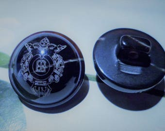 1 button domed for jacket, coats, 17 mm