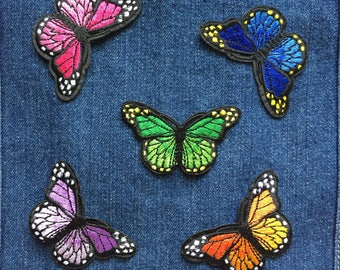 Butterfly Patch - Iron on Patch, Sew On Patch, Embroidered Patch