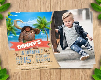 Moana Invitation, Moana Invite, Moana Birthday, Moana Party, Moana Printable, Moana Invitation Birthday, Moana Birthday Invite,