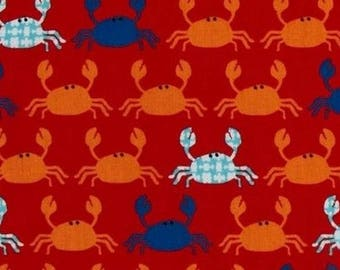 Patchwork red crab Kaufman fabric