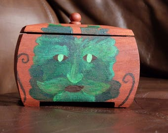 Green Man Trinket Box