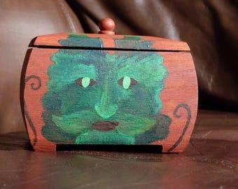 Green Man Trinket Box