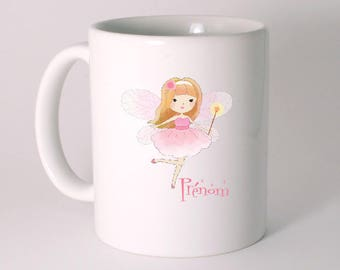"CERAMIC MUG ""Fairy"" personalized with text of your choice"