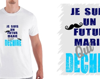 """men tshirt """"I'm a future MARIE who rocks""""-special future married"""