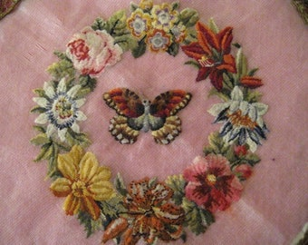 Antique embroidery petit point