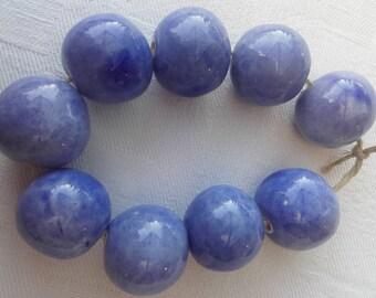 Lavender ceramic beads