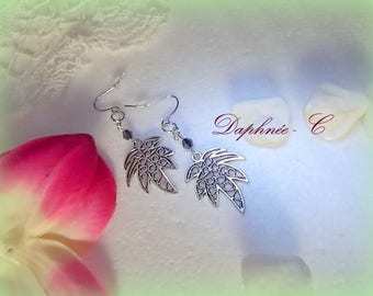 EARRINGS ♥♥dune♥♥ ° ° ° ° ZINC alloy and stainless steel palm leaves