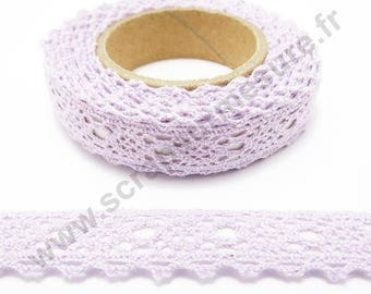 Fabric adhesive tape - purple lace - 17mm x 2.5 m