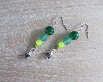"""Natural gemstone """"Tree"""" earrings"""