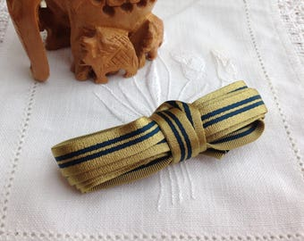 FLAT ELASTIC MOKUBA HAS STRIPES BLUE GOLD