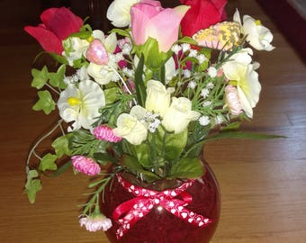Valentine's day floral arrangement