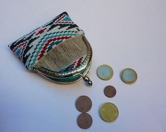 Ethnic vintage fabric purse