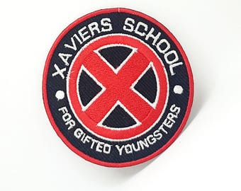 417# XAVIERS SCHOOL Gifted youngsters movie Embroidered patch Iron Or Sew On