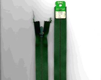 "Closure zipper""metal"" not separable Green 20cm"