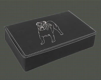 Leatherette Flask Gift Set - Dog Designs 5