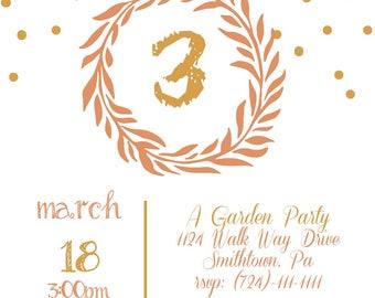 Garden Party Birthday Invitation
