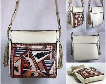 Boho style bag, Purse, Crossbody bag vegan, Bohemian handbag, Hippie shoulder bag, Sac a main, Tasche