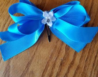 Blue 4.5 inch bow