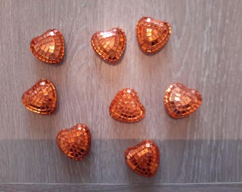 polystyrene shiny faceted heart