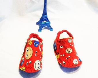 Slippers washable Emoticon, lightweight and comfortable T:20 / 22 made 100% in France