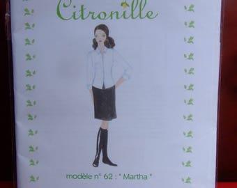 Pattern Citronille Martha: 3/4 sleeves blouse size 36 to 46_Neuf