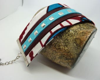African fabric Cuff Bracelet-