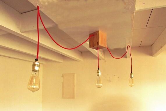 luminaire lustre de bar ou salle manger 3 ampoules. Black Bedroom Furniture Sets. Home Design Ideas