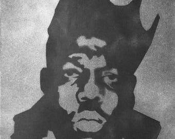 Notorious BIG - Biggie Smalls Original Spray Art on Canvas Hip Hop
