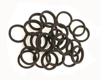 24 New Ponytail Holder Ties Black Hair Elastics Girls Ladies Sporty