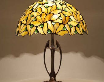Tiffany Lamp 16'' Leaves 40, Tiffany Desk Lamp, Tiffany Lamp, Desk Lamp, Lamp