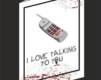 Scream inspired Valentines Card