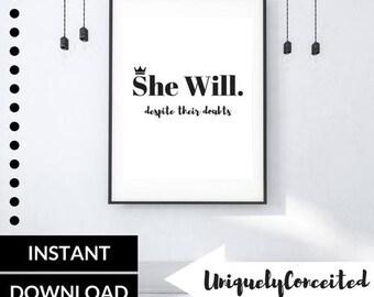 She Will.