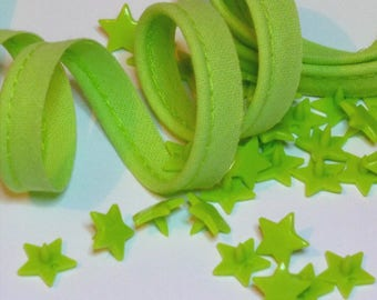 4 m green cotton piping clear 10mm