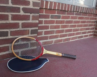 Vintage Bancroft Glass Executive Hand Crafted Tennis Racquet