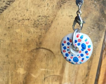 Essential Oil Pendant, Ceramic Pendant, Splatter-Dot Design
