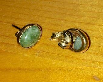 14k Gold Russel Jade Earring