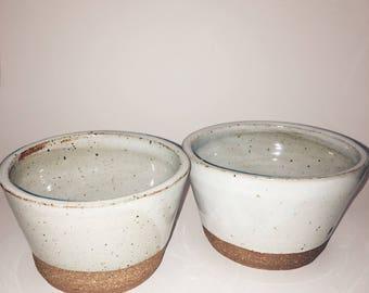 Small white bowls