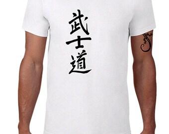 """T-shirt man """"BUSHIDO"""" ... the way of the warrior"""