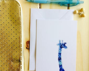 Encouragement card giraffe painted desgin