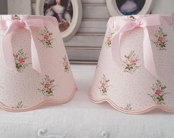 lamp shade roses for appliques and chandelier shabby chic style, small roses pattern
