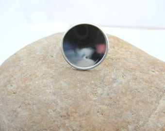 Adjustable ring for 2 cm round cabochons