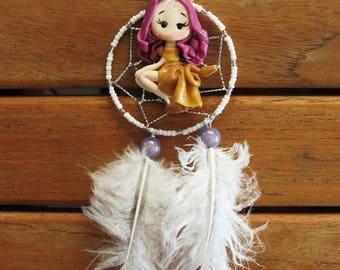 Dream catcher with Zodiac Leo fairy