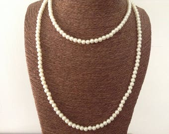 Necklace beads imitation pearls