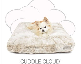 "Peluche Plush Cuddle Cloud Bunny Cream Dog Bed - 24"" Square"