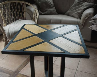 Low iron oak rotating table
