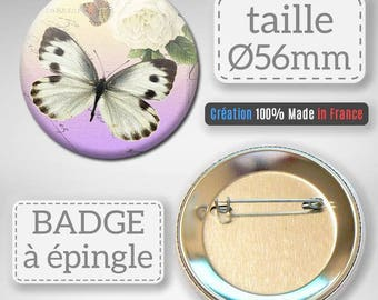 Badge Butterfly Animal insect idea gift 56 mm