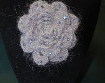 Grey wool BROOCH