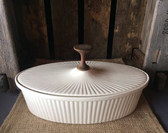 Ernest Sohn Oval Serving Dish with Lid and Walnut pull