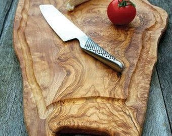 Olive Wood Cutting Board 100% Natural Hand Made