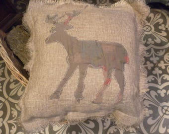 Cushion reindeer deer cozy Nordic Scandinavian LCV *.